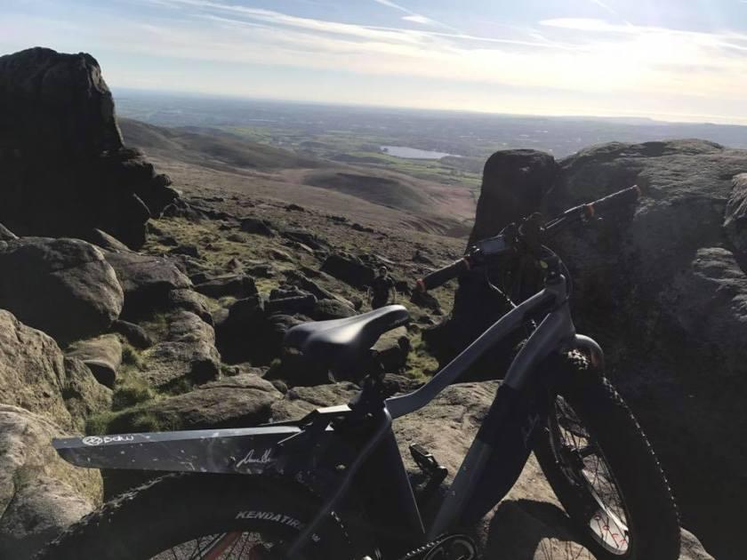 VOLT Bigfoot fat tyre e-bike on the Pennines