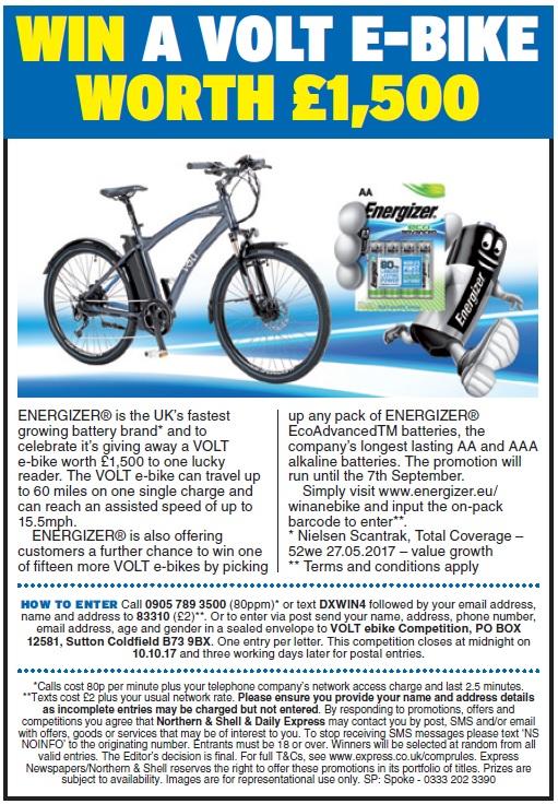 Win a VOLT e-bike worth £1,500