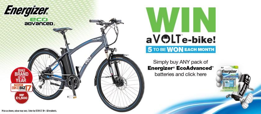 Win a VOLT e-bike through Energizer Eco Advanced