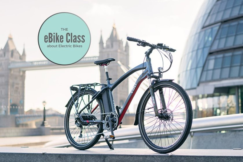 VOLT Pulse e-bike in front of the iconic Tower Bridge in London