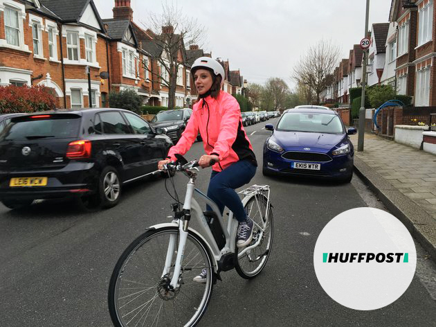 HuffPost UK Journalist Amy Packham test rides in the VOLT Pulse LS in London
