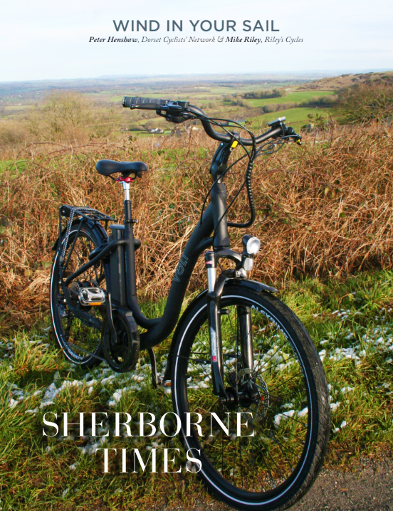 Sherborne Times features the VOLT Burlington e-bike on the Dorset hills