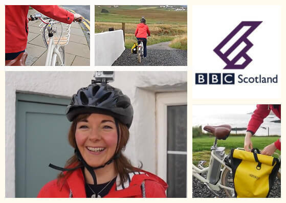 BBC Radio's Claire White commutes on her VOLT Kensington e-bike to her Shetland office
