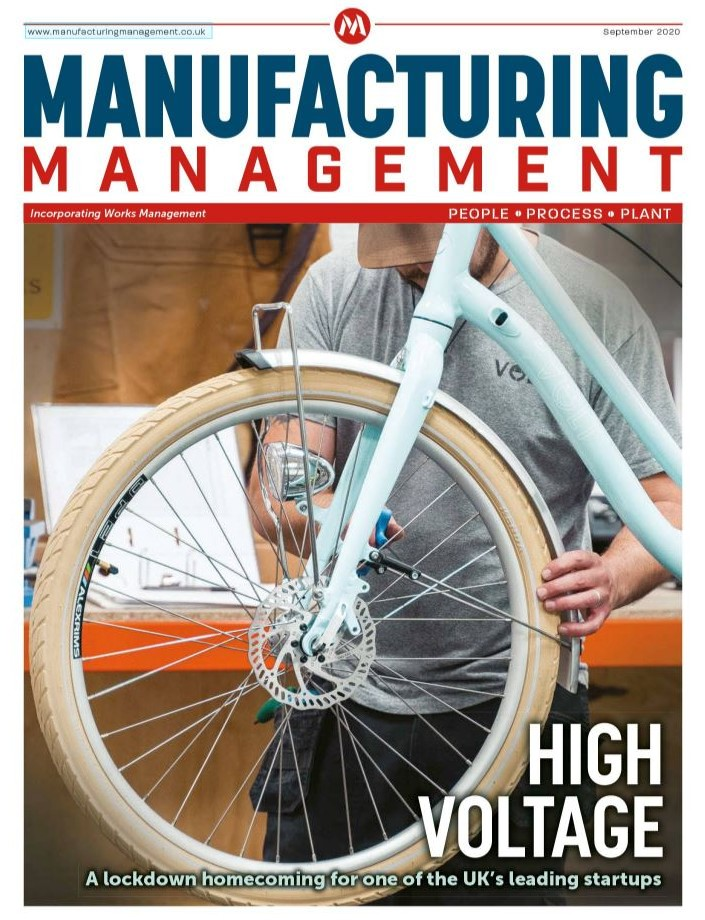 Volt Factory on Manufacturing Management Mag Cover