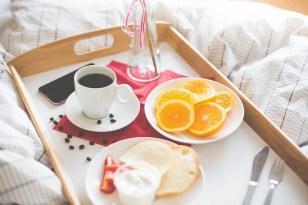 Fresh Morning Breakfast in Bed