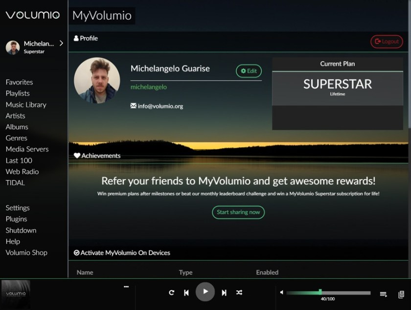 myVolumio-Profile-Referral-Page