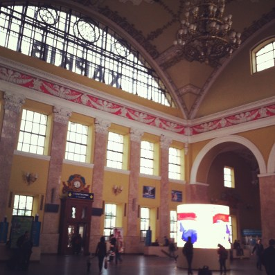 Kharkiv, estación de tren, hall central.