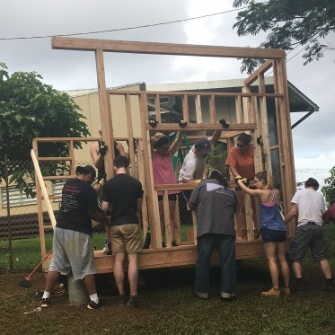 Virginia tech students build shed for charter school