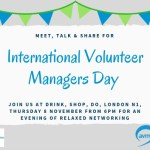 International Volunteer Managers Day Drinks – London