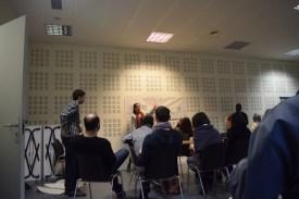Our incredible facilitator Rita explaining the timeline of PATH