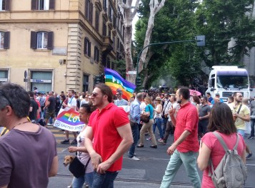 There was celebration of permit same-sex marriages in Italy!