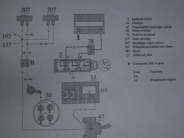 1991 740 Turbo Wagon, Horn Relay, Dash Lights, Clock