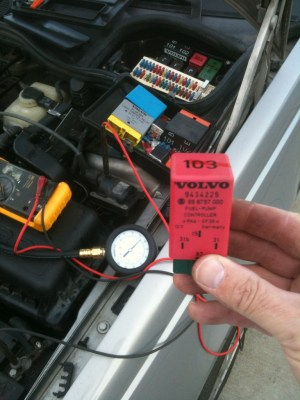 Volvo 850 random stalling and hard to start Testing Fuel Pump and Fuel Pump Relay  Volvo
