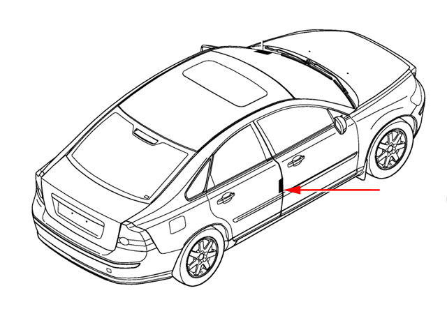 Volvo interior color code location for Mercedes benz paint code location