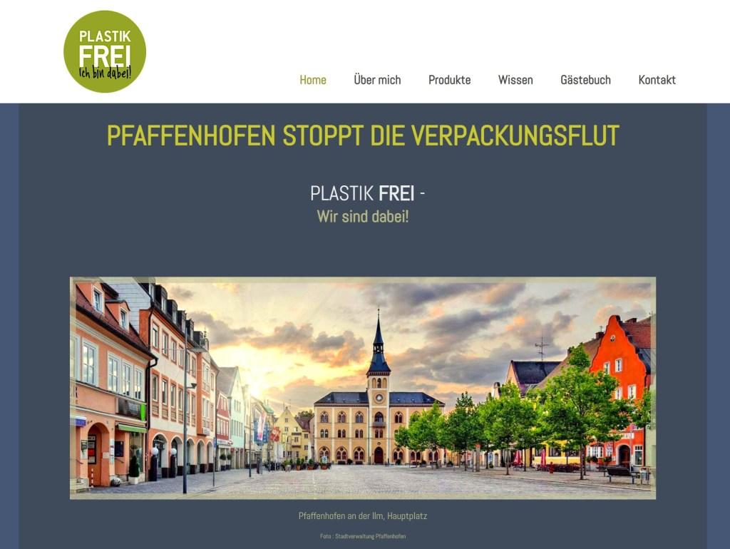 Startseite von plastikfrei-pfaffenhofen.de