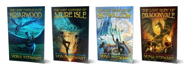 First four books in the Shadow Sovereign Series
