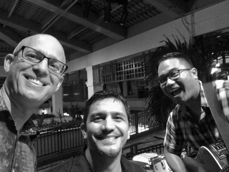 Von Baron, Michael Grande and Randy Allen gigging in Hawaii.