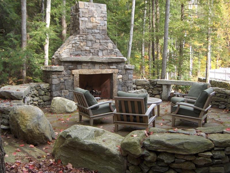 5 Amazing Outdoor Fireplace Designs - Vonderhaar on Amazing Outdoor Fireplaces id=48326