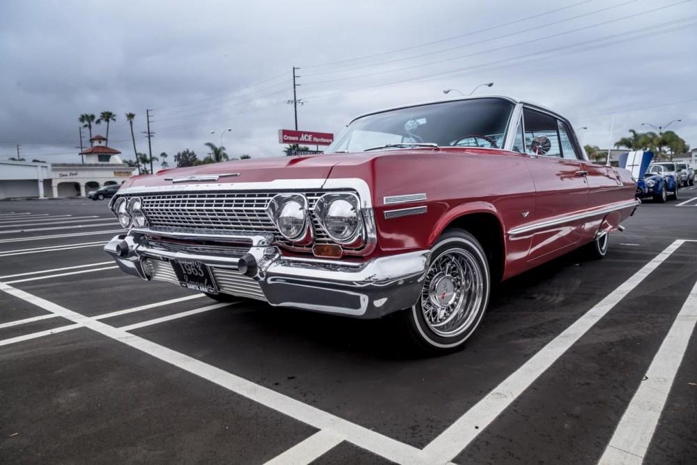 Bright chrome on this 1963 Chevy Impala