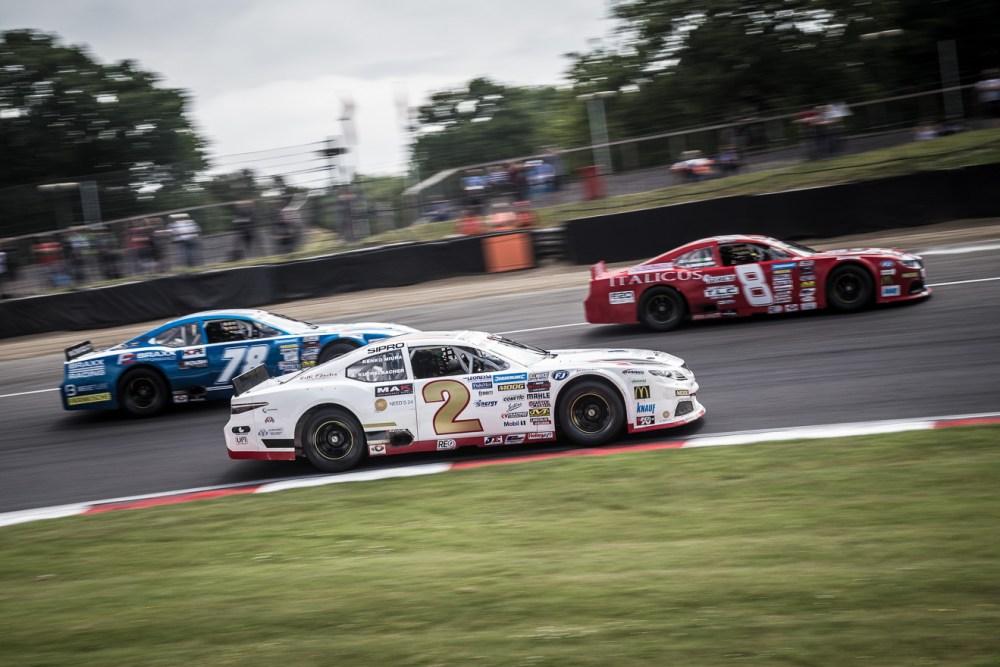 Nas car Whelen Euro Series cars racing at Brands Hatch