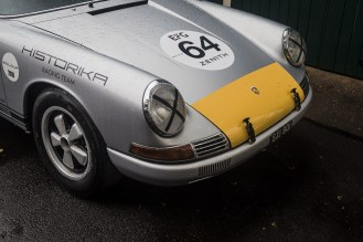 Silver and yellow 1964 Porsche 2.0Ltr