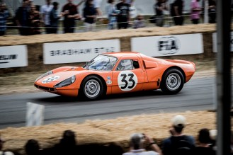 Monte Carlo Rally runner up orange Porsche Carrera GTS
