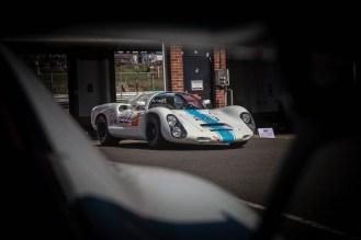 White and blue 1968 Porsche 910