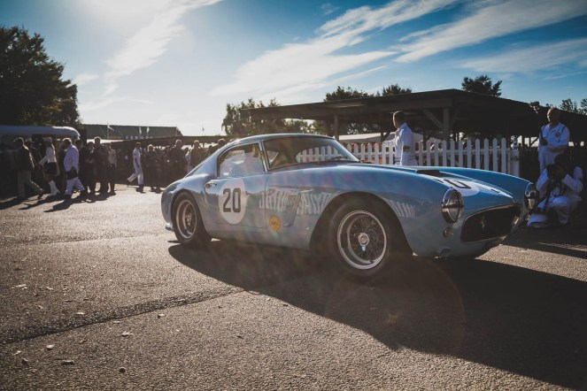 Morning sunbathing for this 1960 Ferrari 250GT SWB/C, Goodwood Revival.