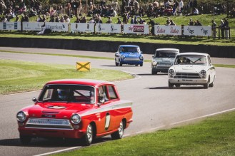 A brace of MK1 Lotus Cortina's, Goodwood Revival.