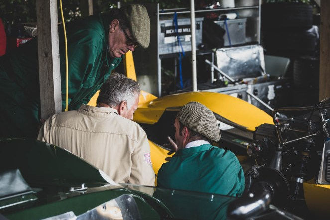 Fettling discussions, Goodwood Revival.