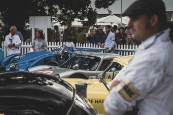 Flat caps and fine machinery, Goodwood Revival.
