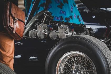 Twin side-draft carburetors