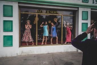 Swinging 60's female models at Goodwood Revival
