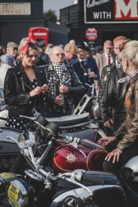 Stylish classic motorcycles and rockers
