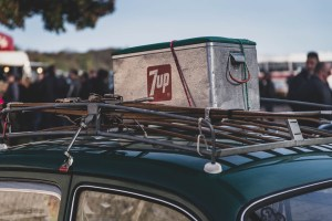 7up cool box on roofrack
