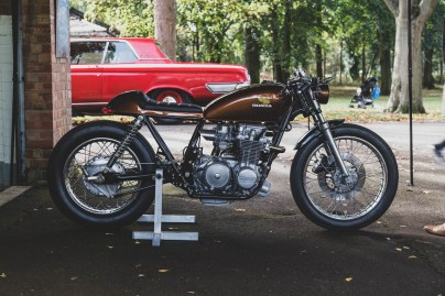 Brown Honda CB