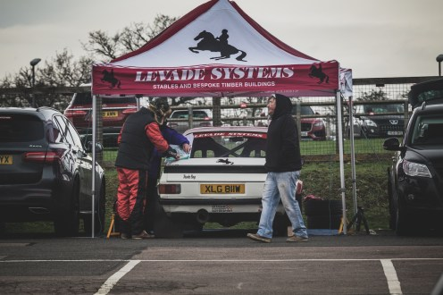 Mk2 Ford Escort in the pits