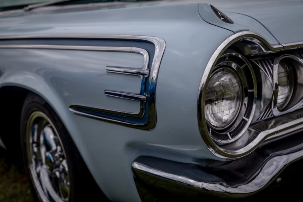 Trim details of Front lights of Dodge Polara Golden Anniversary