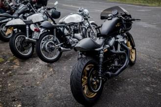 Black and gold Harley Davidson cafe racer