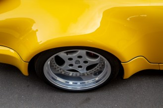 Yellow Porsche 964 RS wheel arch