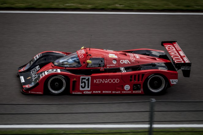 Red Group C Porsche 956/962 race car