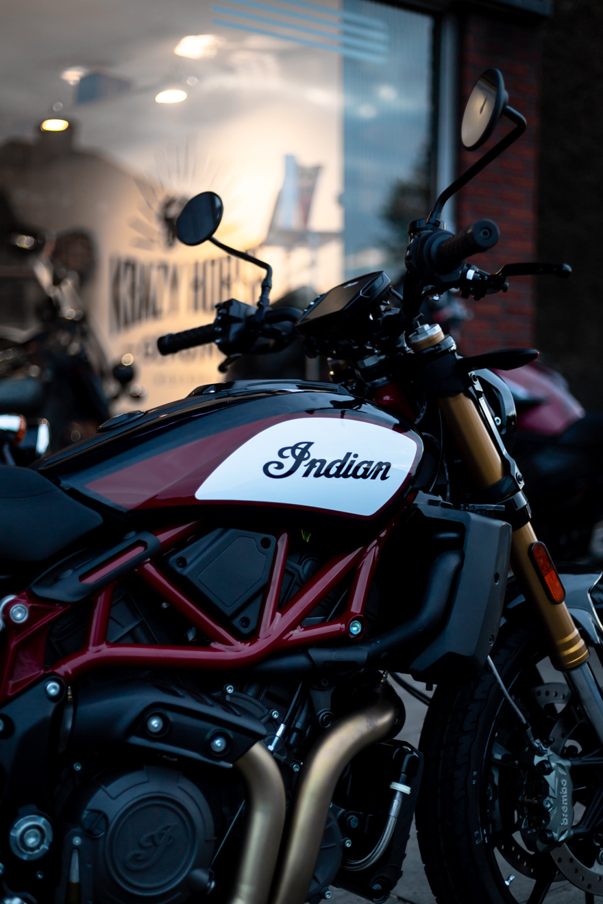 Indian FTR1200 flat track motorcycle
