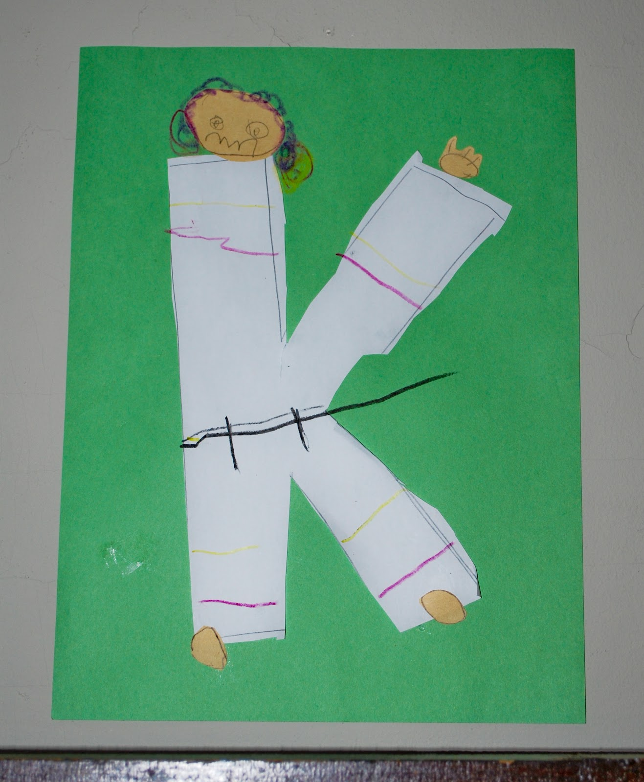 Drawing The Alphabet K Is For Karate