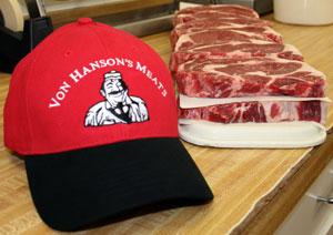 Baseball Cap and Steaks
