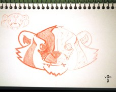 badger logo sketch
