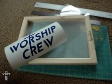 worship crew - cutting acetate