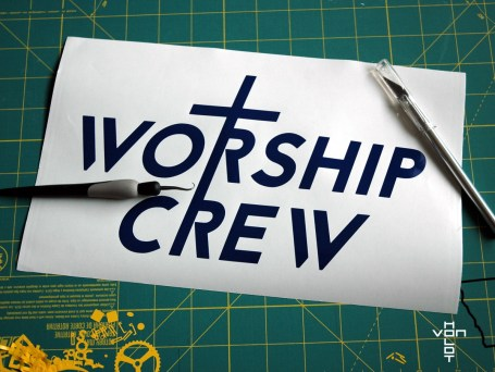 worship crew - vinyl positive
