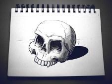 skull (inktober)