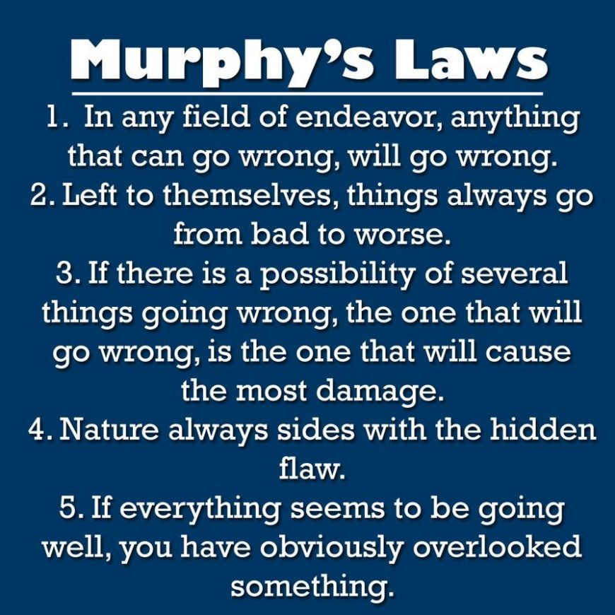 Murphys laws wallpaper