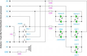 my first brainfuck schematic